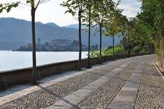 Lago Orta, Italia Fotografie Stock Libere da Diritti
