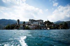 Lago Orta, Italia immagine stock