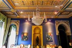Lago Orta, Piedmont Itália o 27 de julho - 2013 Interior luxuoso do hotel Imagens de Stock Royalty Free
