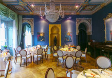 Lago Orta, Piedmont Itália o 27 de julho - 2013 Interior luxuoso do hotel Fotografia de Stock Royalty Free