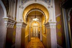 Lago Orta, Piemonte l'Italia 27 luglio - 2013 Interno di lusso dell'hotel Fotografie Stock Libere da Diritti