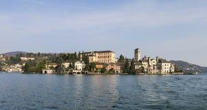 Lago Orta - San Giulio Island Foto de archivo libre de regalías