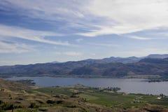 Lago Osoyoos, sur de Britsh Colombia, Canadá Imágenes de archivo libres de regalías