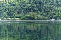 Lago Ossiach en Austria Fotografía de archivo libre de regalías