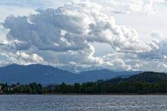 Lago Ossiach en Austria Imagen de archivo libre de regalías