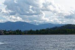 Lago Ossiach en Austria Fotos de archivo