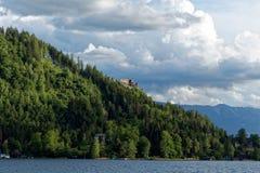 Lago Ossiach en Austria Foto de archivo