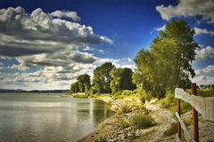 Lago Otmochow, Poland Imagem de Stock Royalty Free