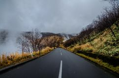 Lago Oyunuma em Noboribetsu, Hokkaido, Japão Foto de Stock Royalty Free
