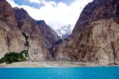 Lago Pakistan Attabad Immagini Stock