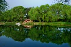 Lago palace de verano del paisaje urbano- de Pekín foto de archivo