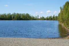 Lago Palmer Hay Flats Alaska reflections Fotografia Stock