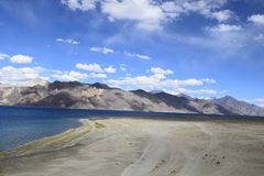 Lago Pangong, Ladakh imagens de stock