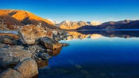 Lago Pangong in Leh Immagine Stock