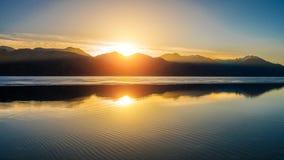 Lago Pangong in Leh Immagini Stock