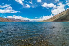 Lago Pangong - Leh Ladakh, Jammu e Caxemira, Índia fotos de stock royalty free