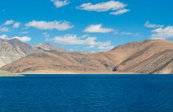 Lago Pangong in Leh Lardakh, India Immagine Stock Libera da Diritti