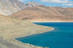 Lago Pangong in Leh Lardakh, India Fotografia Stock Libera da Diritti