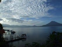 Lago panorámico Atitlan Fotografía de archivo