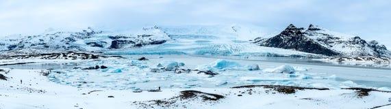 Lago panorâmico ice Foto de Stock Royalty Free