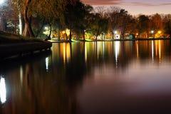 Lago Panorma, Bucarest Herastrau Immagine Stock