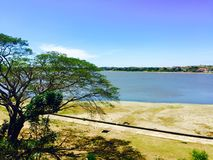 Lago Paoay en Ilocos Norte, Filipinas Foto de archivo