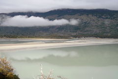 Lago patagonia Immagine Stock