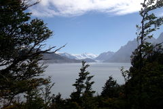 Lago patagonia immagini stock libere da diritti