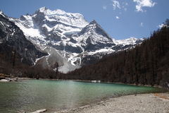 Lago pearl de Tíbet Foto de archivo