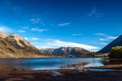 Lago Pearson/reserva de Moana Rua situada en Craigieburn Forest Park en la región de Cantorbery, isla del sur de Nueva Zelanda Imagen de archivo