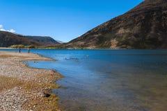 Lago Pearson/riserva di Moana Rua situata in Craigieburn Forest Park nella regione di Canterbury, isola del sud della Nuova Zelan Immagine Stock