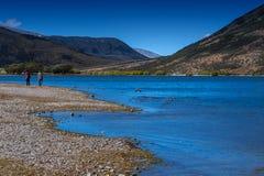 Lago Pearson/riserva di Moana Rua situata in Craigieburn Forest Park nella regione di Canterbury, isola del sud della Nuova Zelan Fotografia Stock