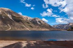 Lago Pearson/riserva di Moana Rua situata in Craigieburn Forest Park nella regione di Canterbury, isola del sud della Nuova Zelan Immagine Stock Libera da Diritti
