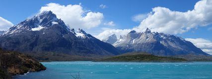 Lago Pehoe royalty-vrije stock afbeelding