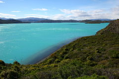 Lago Pehoe In Torres Del Paine Royalty Free Stock Image