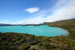 Lago Pehoe in Torres del Paine fotografia stock