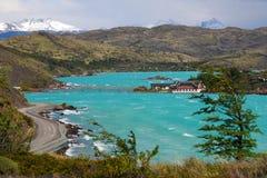 Lago Pehoe in Torres del Paine royalty-vrije stock afbeeldingen
