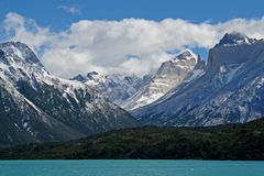 Lago Pehoe, Torres del Paine NP, Patagonia Royalty Free Stock Photo