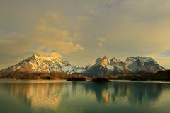 Lago Pehoe, Torres del Paine royalty free stock photo