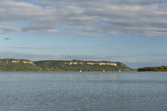 Lago Pepin Scenic mississippi River Fotografie Stock