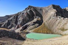 Lago pequeno Cayolle Foto de Stock
