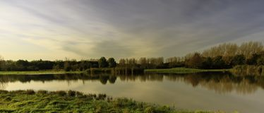 Lago pequeno em Lelystad Fotografia de Stock