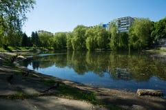 Lago pequeno urbano em Minsk no dia ensolarado do verão Fotografia de Stock Royalty Free