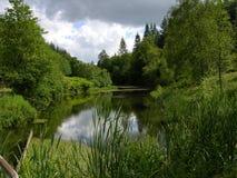 Lago pequeno - Vrads Sande fotografia de stock