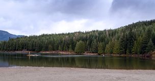 Lago perdido; Assobiador BC fotografia de stock