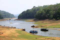 Lago Periyar, Kerala, la India Fotos de archivo libres de regalías