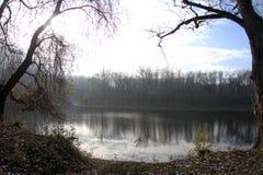 Lago perto de Novi Sad, Sérvia, Arkanj Fotografia de Stock Royalty Free