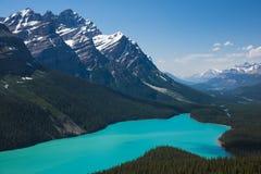 Parque nacional do lago Petyo, Banff foto de stock