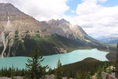 Lago Peyto e cimeira da curva Foto de Stock