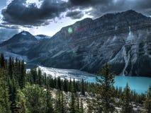 Lago Peyto en Canadá Imagen de archivo libre de regalías